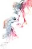 烟型妖怪,白色背景 库存照片