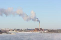 烟斗和通入蒸汽的水 图库摄影