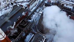 烟斗热电厂 鸟瞰图 管子热电厂 取暖季节 股票视频