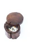 烟灰缸木头 免版税库存照片