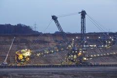 烟煤露天矿Hambach (德国) -转台式挖掘机 图库摄影