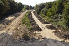 烟煤-在梅尔策尼希附近的前高速公路A4 免版税库存照片