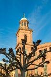 烟熏腊肠圣保罗教堂-圣保罗的教会法兰克福 图库摄影