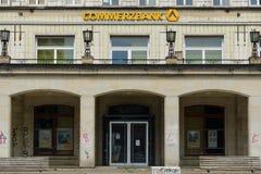 烟熏腊肠的Allee商业银行办公室 免版税图库摄影