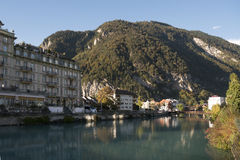 烟特勒根,瑞士 免版税库存图片