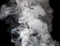 烟的抽象图在黑背景 库存图片