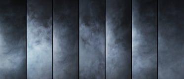 烟纹理汇集 不同的气体形状 库存照片