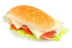 烟肉三明治 免版税库存图片