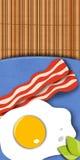 烟肉和鸡蛋 免版税库存图片