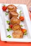 烟肉姜加调料烘烤被包裹的大豆 免版税库存照片