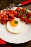烟肉早餐怂恿英语 免版税图库摄影