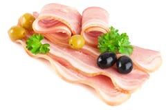 烟肉猪肉被切的鲜美 库存照片