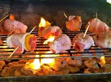 烟肉被包裹的开胃菜 免版税图库摄影