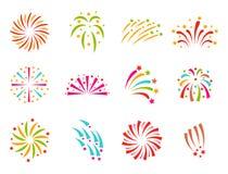 烟花传染媒介例证庆祝假日事件夜爆炸光欢乐党 库存照片