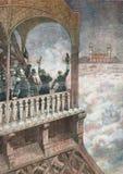 烟花在巴黎1893 库存照片