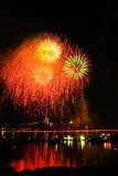 烟花岘港越南2013年 免版税库存图片