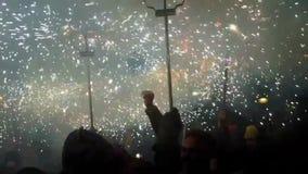 烟花巴塞罗那假日火 股票视频