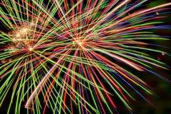 烟花帮助庆祝新年 免版税库存照片