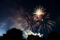 烟花庆祝在格洛斯特 免版税库存图片