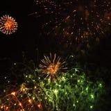 烟花Wansted公园 免版税图库摄影