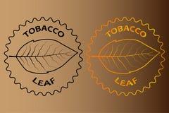 烟草叶子贴纸 向量例证