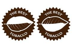 烟草最佳的贴纸 向量例证