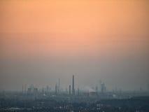 烟雾弥漫的天空 免版税库存照片