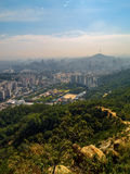 烟雾的汉城 库存照片