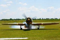 烟飞机 图库摄影