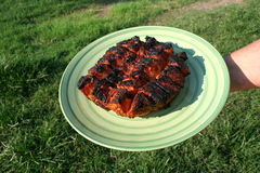 烤乡村模式的猪腰4 库存照片