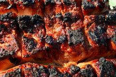 烤乡村模式的猪腰7 免版税库存图片
