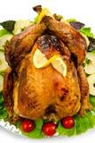 烤供食的火鸡 免版税库存照片