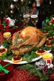 烤圣诞节土耳其 库存图片