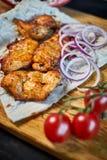 烤在一个热的格栅JPG的牛肉Kebabs 库存图片