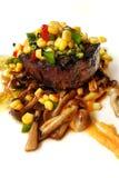 烤块菌牛里脊肉 库存照片