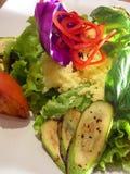 烤墨西哥沙拉蔬菜 库存图片