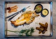 烤巨型淡水大虾河虾或Kung Pao有s的 库存图片