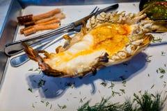 烤巨型淡水大虾河虾或Kung Pao 免版税库存照片
