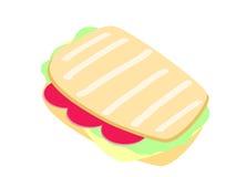 烤干酪三明治向量 库存照片