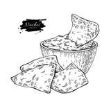 烤干酪辣味玉米片画 传统墨西哥食物传染媒介例证 库存例证