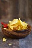 烤干酪辣味玉米片的部分 免版税库存图片