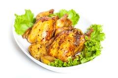 烤康沃尔母鸡 免版税库存照片