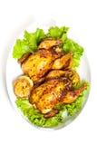 烤康沃尔母鸡 免版税库存图片