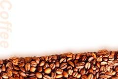 烤无奶咖啡豆背景  库存图片