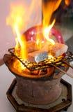 烤梭子鱼在越南 库存照片