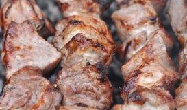 烤烤肉牛肉肉Kebabs用香料 库存图片