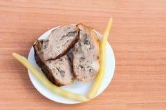 烤烤肉鸡季度 库存图片