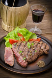 烤牛排。 烤肉 免版税图库摄影