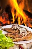 烤牛排肉 库存图片