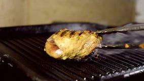 烤牛排 影视素材
